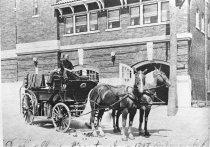 Image of Auburn Fire Department Wagon - JMS DeKalb Co. 1837-1987 Collection