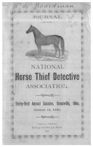 Image of Journal of the National Horse Thief Detective Association, 1891 - National Horse Thief Detective Association