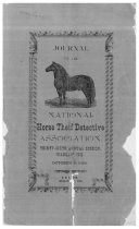 Image of Journal of the National Horse Thief Detective Association, 1896 - National Horse Thief Detective Association