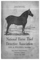 Image of Journal of the National Horse Thief Detective Association, 1923 - National Horse Thief Detective Association