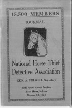 Image of Journal of the National Horse Thief Detective Association, 1924 - National Horse Thief Detective Association