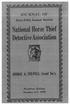 Image of Journal of the National Horse Thief Detective Association, 1925 - National Horse Thief Detective Association