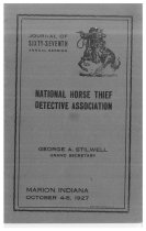 Image of Journal of the National Horse Thief Detective Association, 1927 - National Horse Thief Detective Association