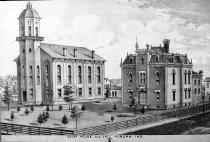 Image of 1875 DeKalb Co. Jail & 1864 DeKalb Co. Courthouse - JMS DeKalb Co. 1837-1987 Collection