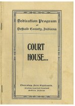 Image of DeKalb County Court House Dedication Program - Acquisition Library