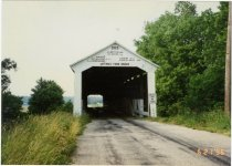 Image of Jefferies Ford Covered Bridge - Transportation in Indiana