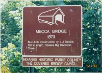 Image of Mecca Covered Bridge - Transportation in Indiana