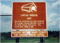 Image of Catlin Covered Bridge - Transportation in Indiana