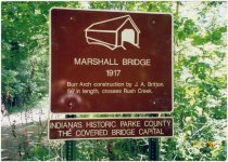 Image of Marshall Covered Bridge - Transportation in Indiana