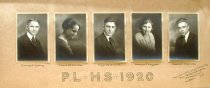 Image of Pleasant Lake High School Graduates - 1920 - Acquisition Photos