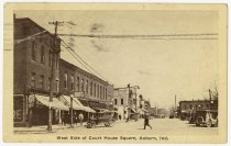 Image of West Side Court House Square Auburn Postcard - John Martin Smith Postcard Collection