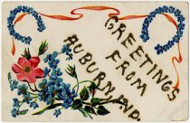 Image of Greeting Card with Flowers in Bloom - John Martin Smith Postcard Collection