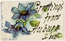 Image of Greeting Card with Flowers  - John Martin Smith Postcard Collection