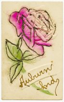 Image of Greeting Card with flower - John Martin Smith Postcard Collection