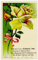 Image of Greeting Card Imprint with Flowers - John Martin Smith Postcard Collection