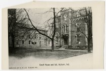 Image of DeKalb County Court House and Jail - John Martin Smith Postcard Collection