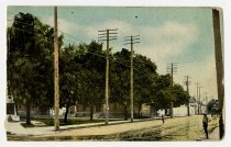Image of DeKalb County Court House Park - John Martin Smith Postcard Collection