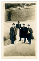Image of Four men in court house - John Martin Smith Postcard Collection