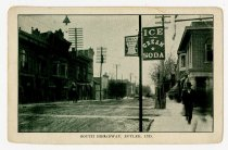 Image of South Broadway, Butler, Indiana Postcard - John Martin Smith Postcard Collection