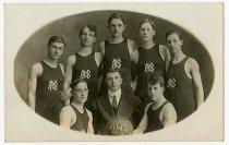 Image of Auburn HIgh School Basketball Team Postcard - John Martin Smith Postcard Collection