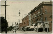 Image of Seventh Street, Auburn, Indiana Postcard. - John Martin Smith Postcard Collection
