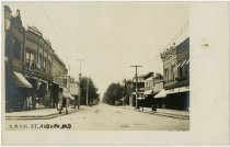 Image of Main Street, Auburn, Indiana Postcard - John Martin Smith Postcard Collection