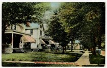 Image of Residences on North Main St., Auburn, Ind. - John Martin Smith Postcard Collection