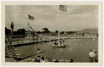 Image of Swimming Pool - John Martin Smith Postcard Collection