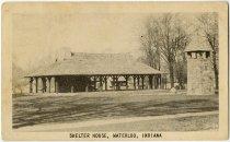 Image of Shelter House, Waterloo, Indiana Photo Postcard - John Martin Smith Postcard Collection
