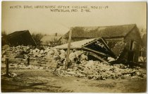 Image of Beyer Bros. Warehouse after Tornado Postcard - John Martin Smith Postcard Collection