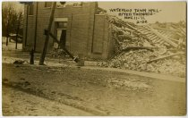 Image of Waterloo Town Hall after Tornado in Waterloo, Indiana Postcard - John Martin Smith Postcard Collection