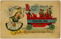 Image of Pennant Postcard, Garrett, Indiana    - John Martin Smith Postcard Collection