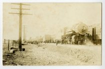 Image of Train Wreck Photo Postcard - John Martin Smith Postcard Collection