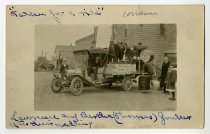 "Image of ""Taken for a Ride"", Wedding Party, Corunna, Indiana - John Martin Smith Postcard Collection"