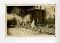 Image of Railroad Workers - Corunna, Indiana - John Martin Smith Postcard Collection