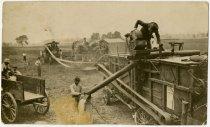 Image of Threshing Crew - Dekalb County, Indiana - John Martin Smith Postcard Collection
