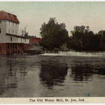 Image of The Old Water Mill, Saint Joe, Indiana - John Martin Smith Postcard Collection