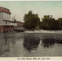 Image of The Old Water Mill, Saint Joe, Indiana - John Martin Smith Postcard Collection