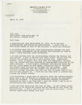 Image of Letter to Judy Long from JMS re: various comments - John Martin Smith Shaker Collection