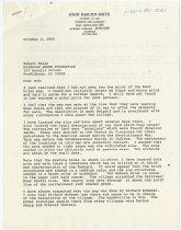Image of Letter to Robert Emlen from JMS re: color map    - John Martin Smith Shaker Collection