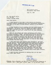 Image of Letter to JMS from Richard B. Spence re: West Union gristmill stones   - John Martin Smith Shaker Collection