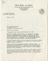 Image of Letter to Flo & Howard Fertig from JMS re: artifacts, etc.  - John Martin Smith Shaker Collection
