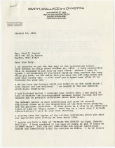 Image of Letter to Mrs. Fred T. Lawson from JMS - John Martin Smith Shaker Collection
