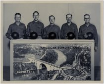 Image of Butler Bowlers, Rochester 1956 American Bowling Congress - John Martin Smith Miscellaneous Collection