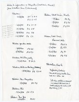 Image of JMS Index to information re: Shakertown (West Union, Knox Co., IN) - John Martin Smith Shaker Collection