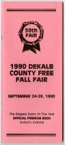 Image of DeKalb County Free Fall Fair Premium Book, September 24-249, 1990 - John Martin Smith DeKalb County Fair Collection