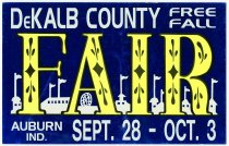 Image of DeKalb County Free Fall Fair Poster, Auburn, IN; Sept 28 - Oct 3 - John Martin Smith DeKalb County Fair Collection