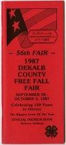 Image of 1987 Dekalb County Free Fall Fair Premium Book - John Martin Smith DeKalb County Fair Collection