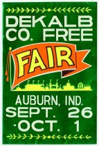 Image of DeKalb County Free Fair Poster - John Martin Smith DeKalb County Fair Collection