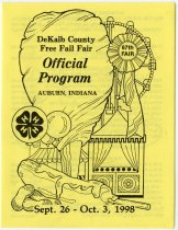 Image of 1998 DeKalb County Free Fall Fair Official Program - John Martin Smith DeKalb County Fair Collection